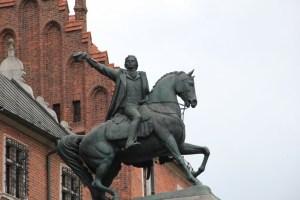 Ruiterstandbeeld in Krakau